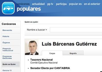El PP borra hoy de su web que Bárcenas es tesorero del partido | Partido Popular, una visión crítica | Scoop.it