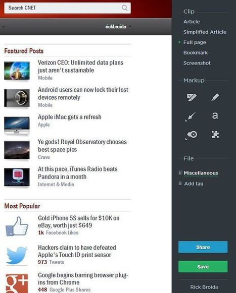 How to use Evernote's new Web Clipper for Chrome - CNET | Chrome Apps | Scoop.it