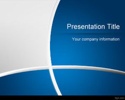 Dark Blue Manager PowerPoint Template   Free Powerpoint Templates   architecture   Scoop.it