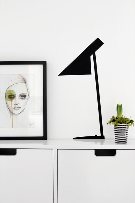 Idées déco : des stickers lampes homemade | Stickerzlab, des astuces et des idées déco pour tous | stickers autocollants décoratifs | Scoop.it