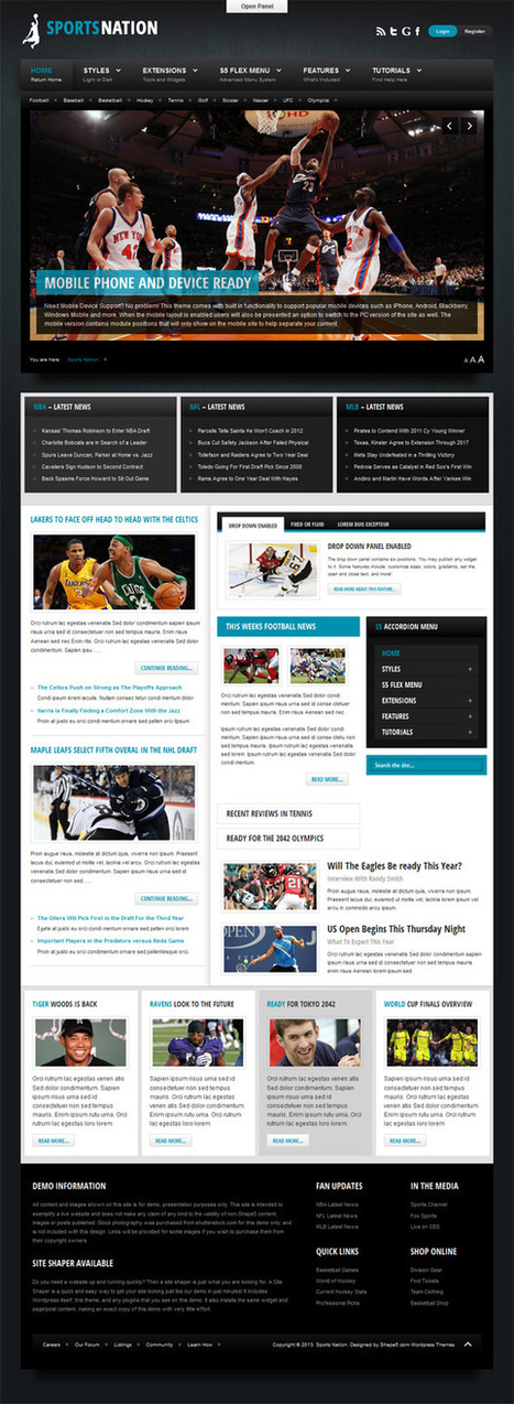 Sports Nation, WordPress Premium Sport Portal Theme | WP Download | UHA | Scoop.it