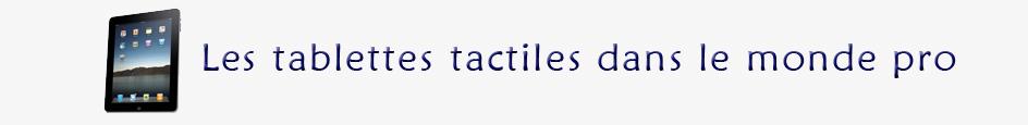 Tablettes tactiles et usage professionnel