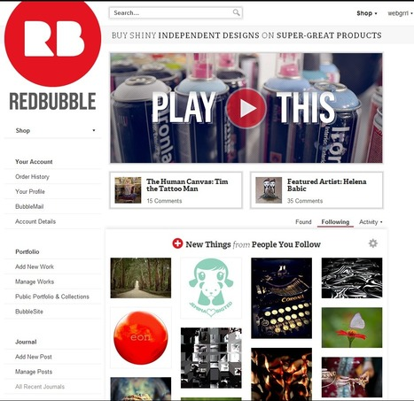 RedBubble announces a total NEW LOOK website and Logo too! | Artdictive Habits : Sustainable Lifestyle | Scoop.it