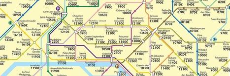 La carte des loyers par station de métro | Weickmann | Scoop.it