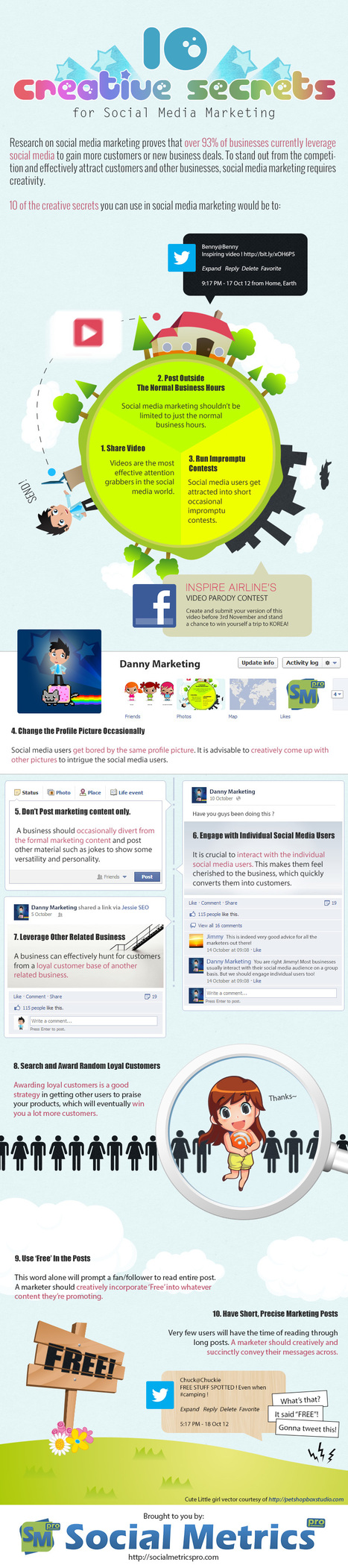 10 Creative Secrets For Social Media Marketing [Infographic] | Social Media Buzz | Scoop.it