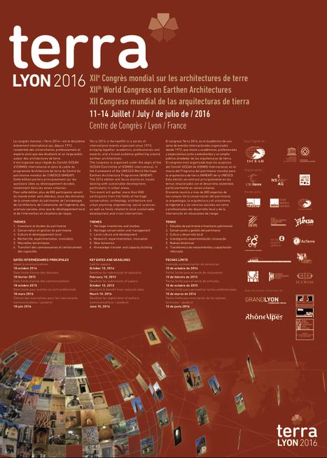 XIIe Congrès mondial sur les ARCHITECTURES de TERRE - Juillet 2016 - Architectes.org   The Architecture of the City   Scoop.it