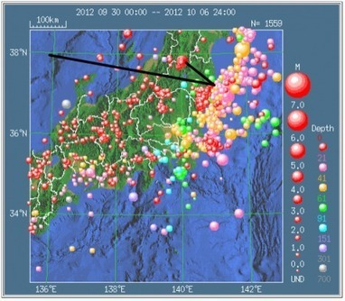 Shallow earthquakes are distributed south inland area of Fukushima plant | Fukushima Diary | Visit our website @ Fukushima 311 Watchdogs.org | Scoop.it