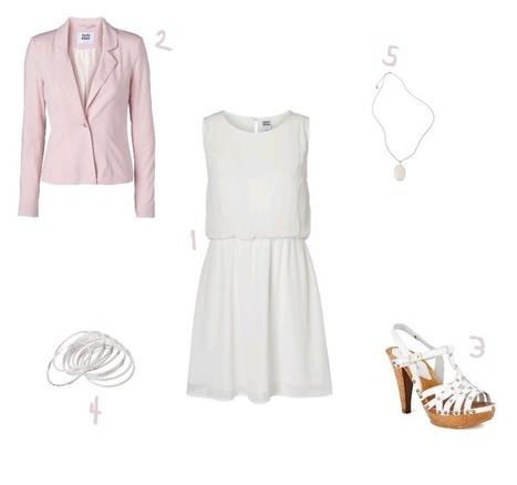 Une tenue chic et printanière en banc et rose | | Mode et fashion | Scoop.it