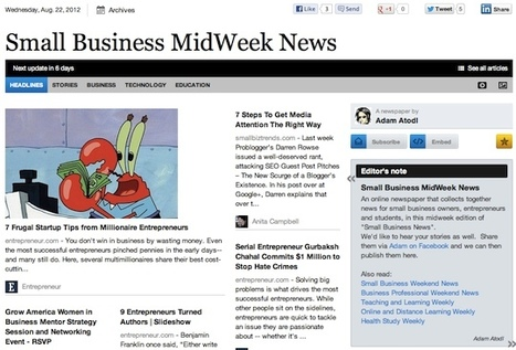 Aug 22 - Small Business MidWeek News is out | Business Futures | Scoop.it