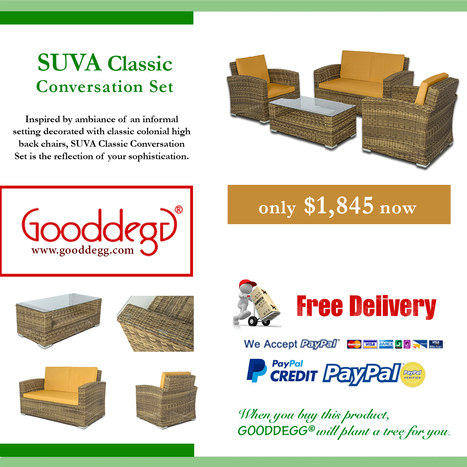 Buy and save $754 on SUVA Classic Conversation Set | Home Decor (Wicker Furniture) | Scoop.it