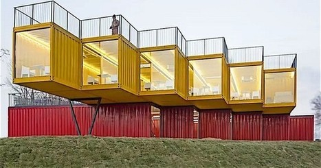 Shipping container pavilion lets it all hang out | CLOVER ENTERPRISES ''THE ENTERTAINMENT OF CHOICE'' | Scoop.it