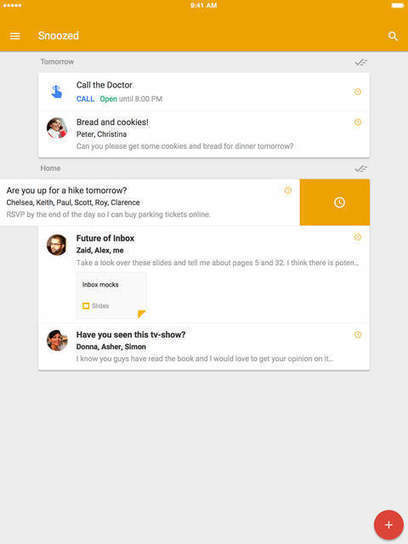 Inbox by Gmail Gets Improved Snooze Feature | Tech It | Scoop.it