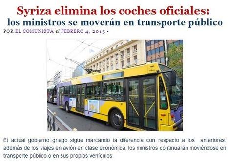 Syriza elimina los coches oficiales: los ministros se moverán en transporte público | La R-Evolución de ARMAK | Scoop.it