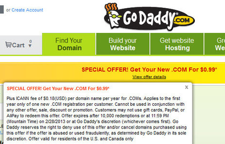 [Discount] Godaddy $0.99 coupon code VDAY99 | Free license for you | Godaddy coupon code | Scoop.it