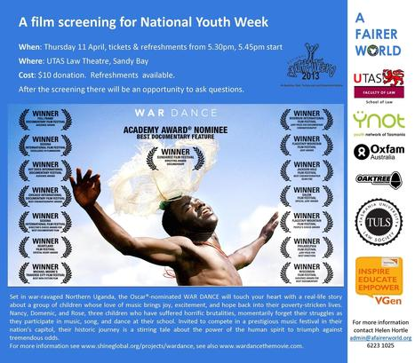 A film Screening for National Youth Week: War Dance   CFNP South   Scoop.it