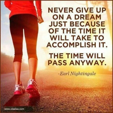 Never give up on a dream just because of the time it will take to accomplish it. The time will pass anyway. | Quotes | Scoop.it