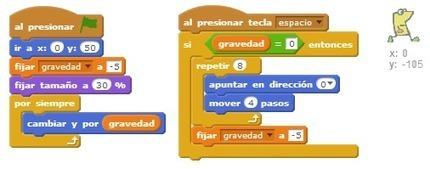 Scratch - Juego de plataformas con gravedad   tecno4   Scoop.it