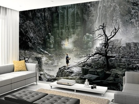 Turn Your Room into Middle-earth with Hobbit Murals from Wallsauce — Middle-earth News | 'The Hobbit' Film | Scoop.it