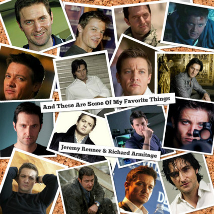 Jeremy Renner Lovers Group International • Jeremy Renner & Richard Armitage  Double The Yum - Notlurking.com | Richard Armitage | Scoop.it