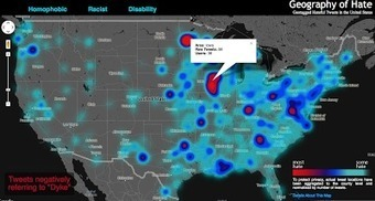 The Geography of Hate | M@pping the World | Scoop.it
