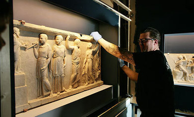 British Museum reunites Roman marble panels split for 2000 years - The Guardian | Artifacts | Scoop.it