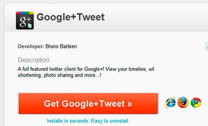 Cómo usar Twitter desde Google Plus | Saber mas en tecnología, compartir es la via | Scoop.it