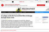[Mediapart] Le piège caché de l'accord de libre-échange Europe Etats-Unis | La Quadrature du Net | L'Europe | Scoop.it