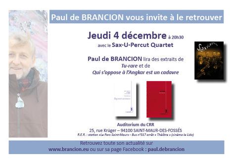 [agenda] 4 décembre, Paul de Brancion, Saint-Maur-des-Fossés | Le Limon | Scoop.it
