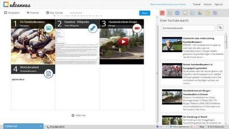 Edcanvas: een gratis webbased lessenmaker « It's all in the Cloud! | Edcanvas | Scoop.it