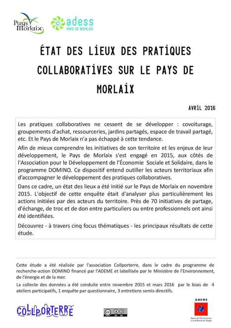 Panorama des pratiques collaboratives sur le Pays de Morlaix | Coopération, libre et innovation sociale ouverte | Scoop.it