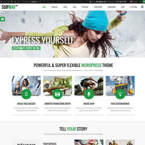 Subway WordPress Theme | WordPress Theme Download | Best WordPress Themes 2013 | Scoop.it
