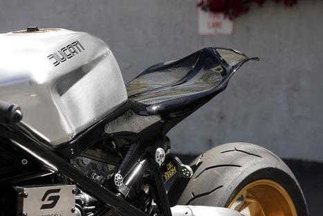 "Ducati 1098 fighter ""Black Fin"" //by Nick Anglada | Vintage Motorbikes | Scoop.it"
