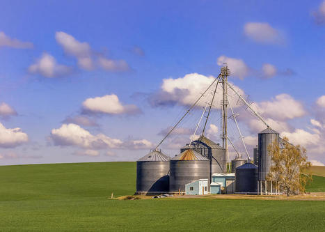 USA: 'Farm With Grain Storage Silos' by John Trax | Grain Elevators | Scoop.it