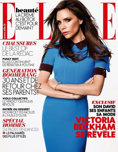 [cover + story pics] Victoria Beckham by Karl Lagerfeld for Elle France | Ibiza Rome | Scoop.it