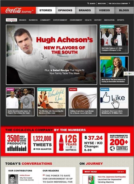 Le nouveau site de Coca-Cola US fait du story-telling   What's new about brands?   Scoop.it