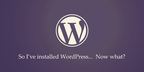 Things You Should Do After Installing WordPress   Professional development of Librarians   Scoop.it