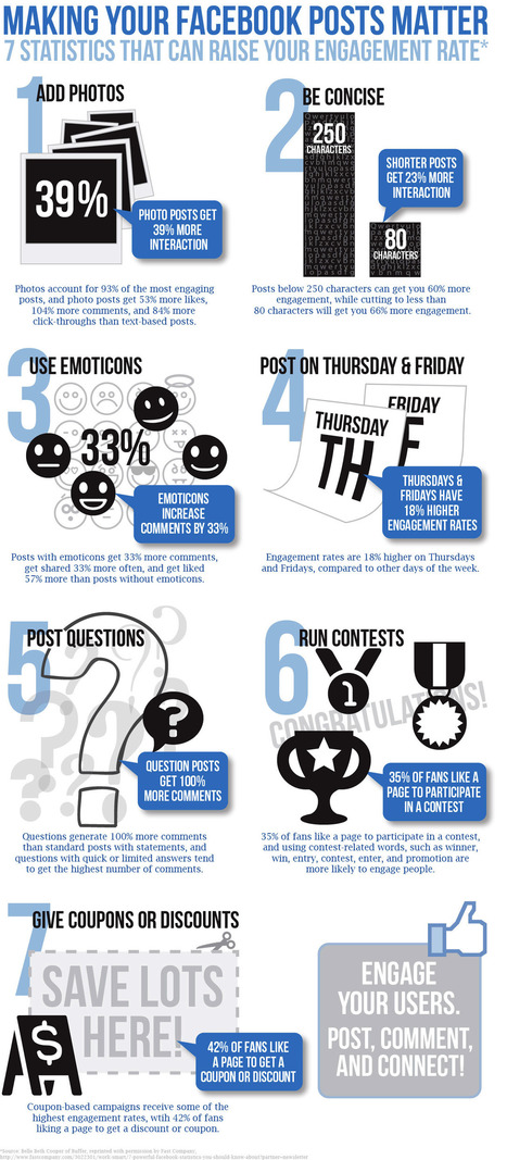 7 Ways to Raise Facebook Engagement [Infographic] | Social media tools and tips | Scoop.it