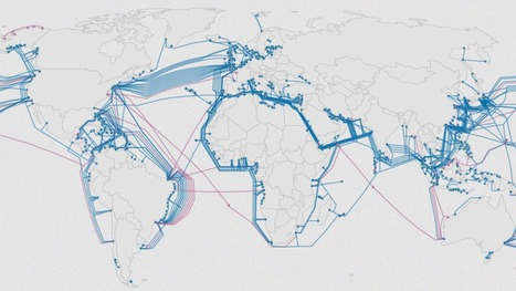 Growth of underwater cables that power the web | Geography Education | Scoop.it