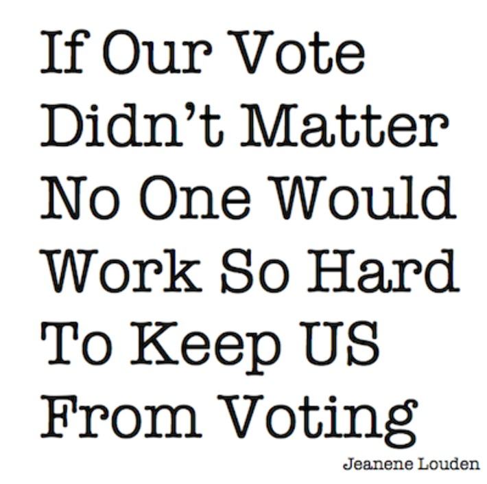 If our vote didn't matter no one would work so hard to keep us from voting. | Colorful Prism Of Racism | Scoop.it