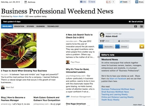 """June 9 - """"Business Professional Weekend News"""" is out 