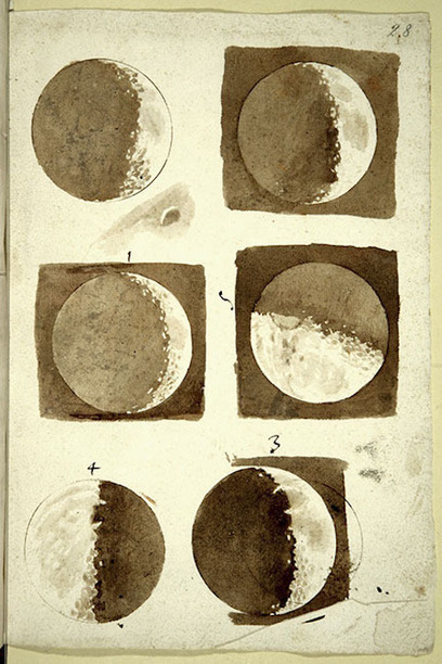 Galileo's Moon Drawings, the First Realistic Depictions of the Moon in History (1609-1610) | The Enlightenment | Scoop.it