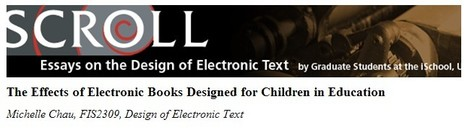 The Effects of Electronic Books Designed for Children in Education | Chau | Scroll | Inclusive teaching and learning | Scoop.it