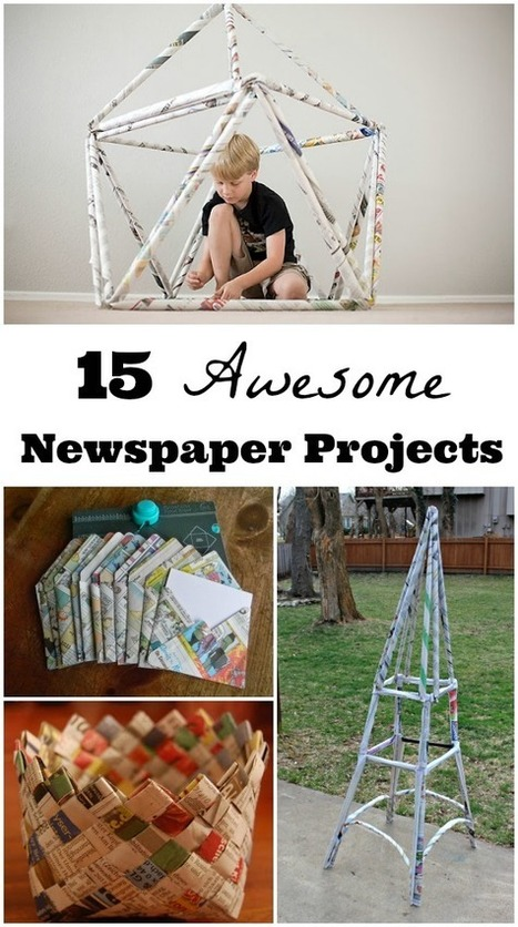 15 Things to Build & Create Using Newspapers | Gaming k12 education curriculum | Scoop.it