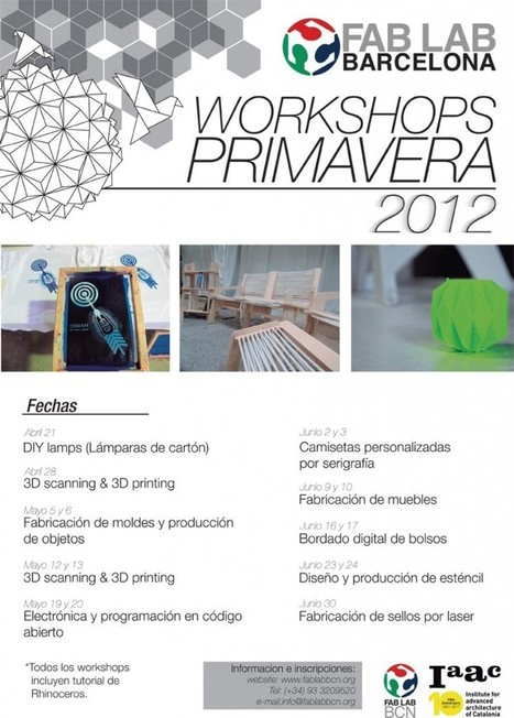 Workshops de primavera @ Fab Lab Barcelona | Open Source Hardware, Fabricación digital, DIY y DIWO | Scoop.it