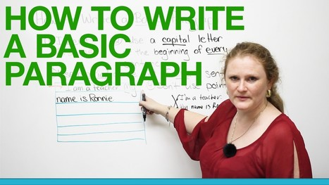 How to write a basic paragraph | Video English | Scoop.it