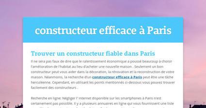 constructeur efficace à Paris | Artisans | Scoop.it