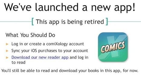 ComiXology lancia la nuova app di solo lettura per iOS - TechGenius | Editoria 2.0 Il libro e la lettura nell'era digitale | Scoop.it