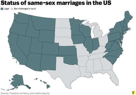 More than half of all Americans live in states where same-sex marriage is legal | Geography Education | Scoop.it