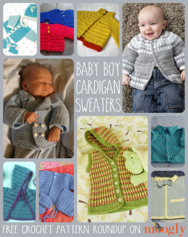 10 Free Crochet Cardigan Sweater Patterns for Baby Boys | Crochet, Knit, Patterns, and Fiber | Scoop.it