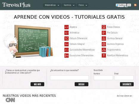 TareasPlus. Aprende matemáticas, física y química con videos   Diseño Instruccional UNET   Scoop.it